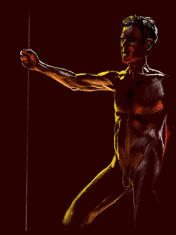 Digital life drawing 112
