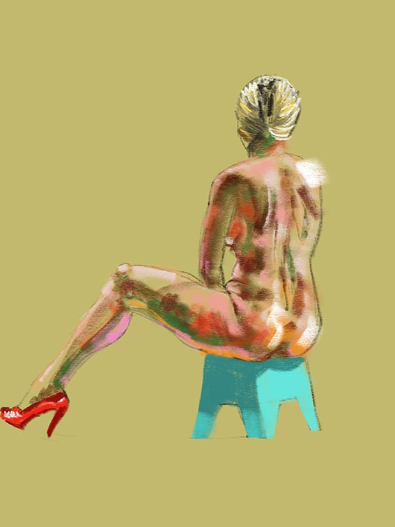 Digital life drawing 45