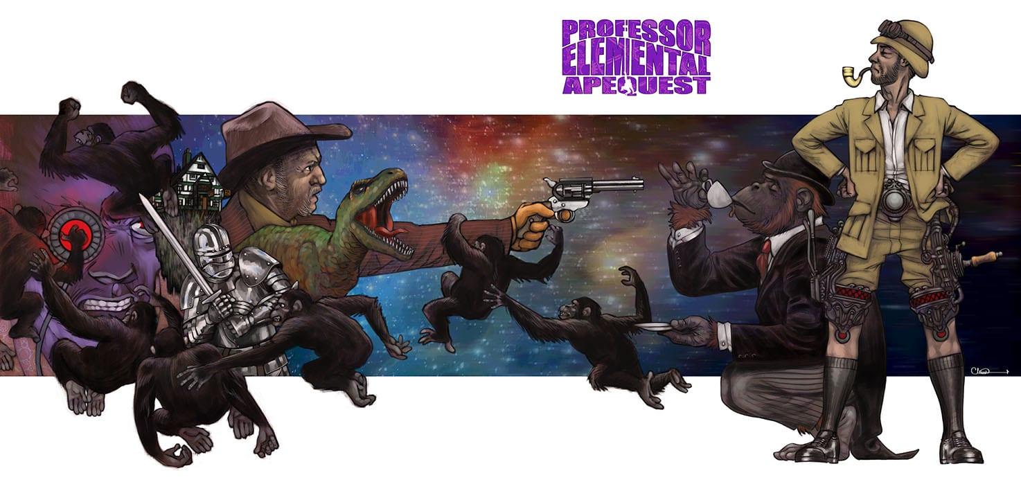 Professor Elemental Apequest CD gatefold front cover