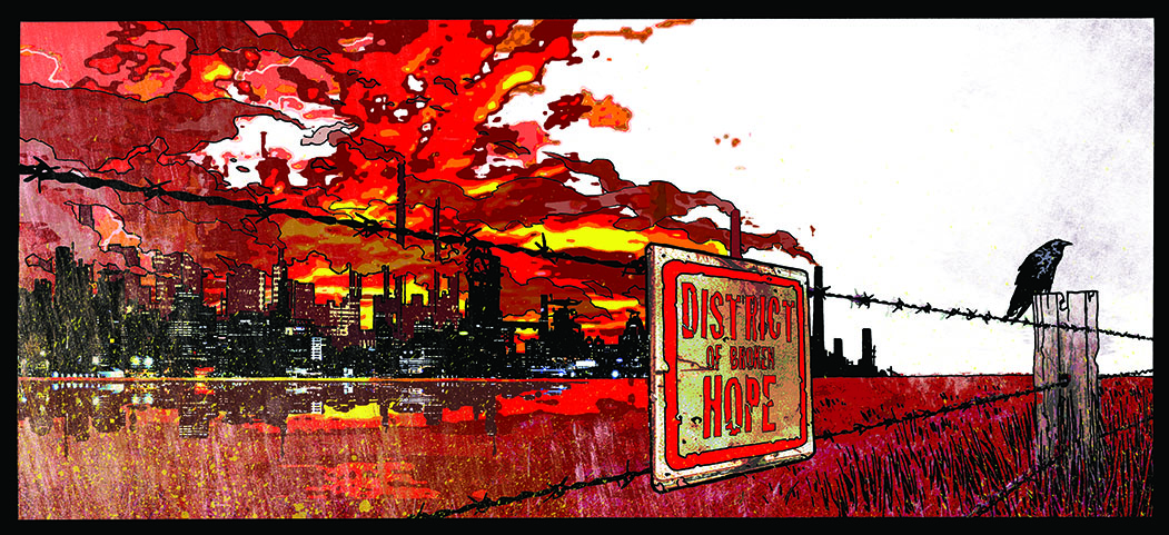 Revenscode  - District Of Broken Hope gatefold CD cover