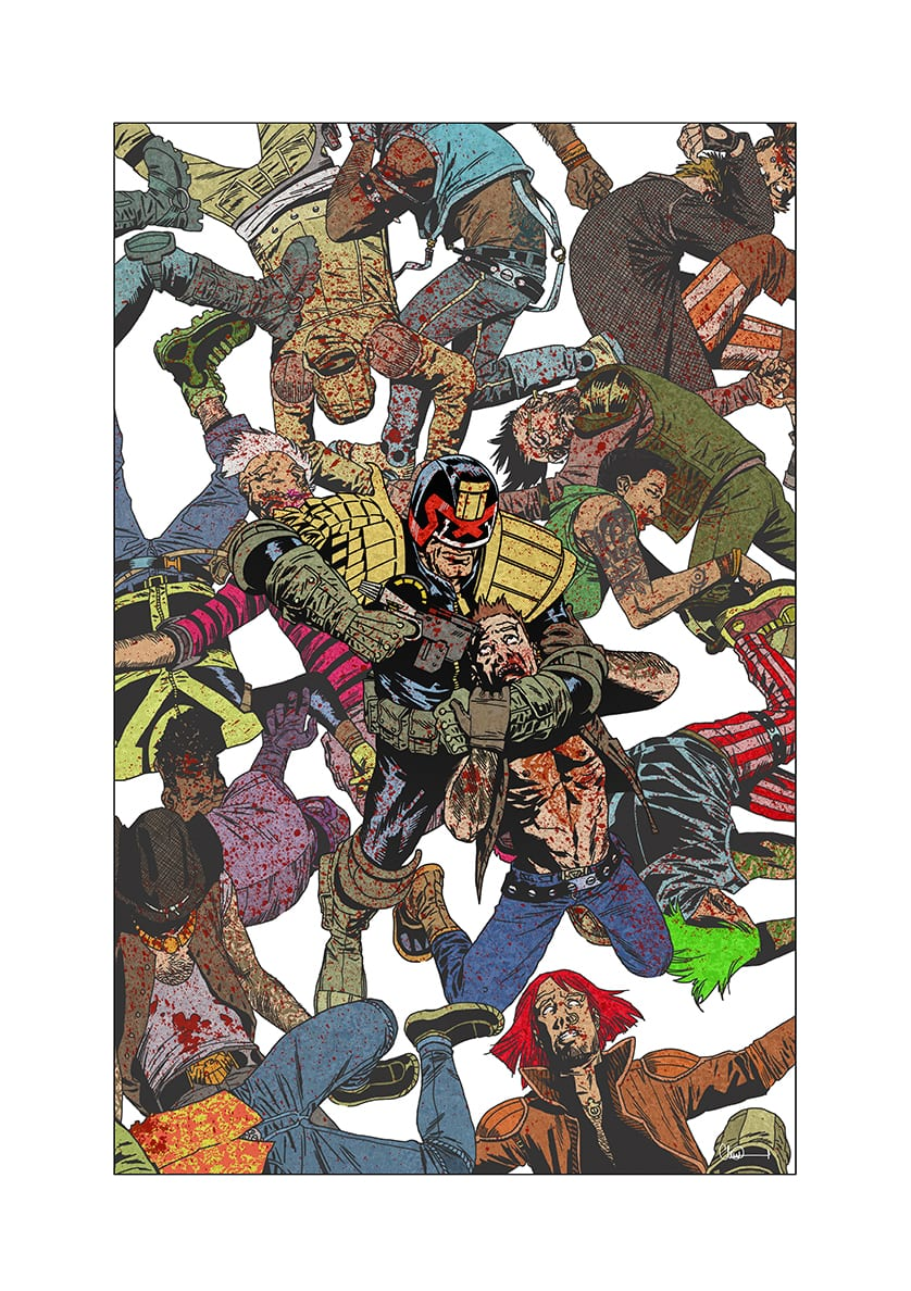 Judge Dredd Cover The Best Of 2000AD